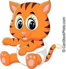 cute baby tiger