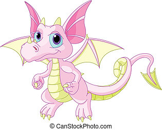 Cartoon baby dragon - Illustration of Cute Cartoon baby ...