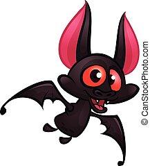 Cute Cartoon Halloween bat