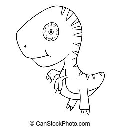 Cute Cartoon of Baby T-Rex Dinosaur - Illustration of Cute...