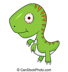 Cute Cartoon of Baby T-Rex Dinosaur . JPEG. - Illustration...