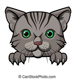 Cute cat head cartoon mascot design