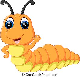 illustration of Cute caterpillar cartoon