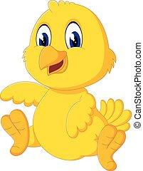 Cute chicken cartoon - illustration of Cute chicken cartoon