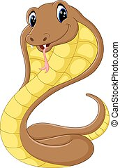 Cute cobra snake cartoon