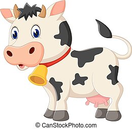 Cute cow cartoon - illustration of Cute cow cartoon