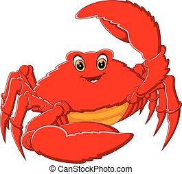 cute crab - illustration of cute crab cartoon