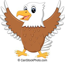 cute eagle - illustration of cute eagle cartoon