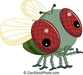 Flies cartoon
