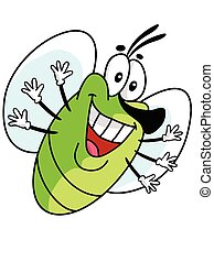 Illustration of cute fly