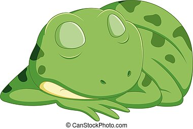 cute frog cartoon