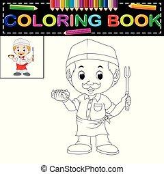 cute funny chef coloring book