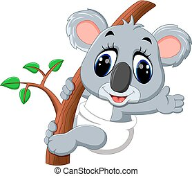 Cute koala cartoon - illustration of Cute koala cartoon