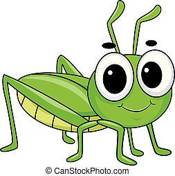 Illustration of Cute Little Grasshopper