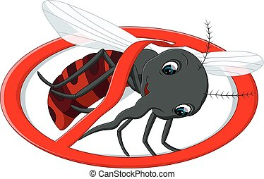 mosquito cartoon - illustration of cute mosquito cartoon