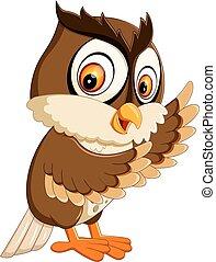 cute owl cartoon