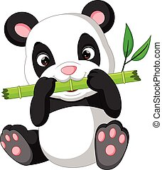 cute panda cartoon - illustration of cute panda cartoon