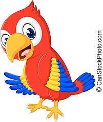 cute parrot cartoon