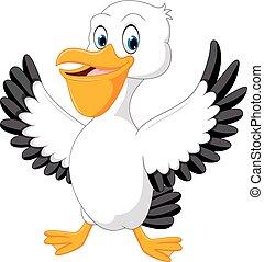 Cute pelican cartoon