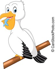 Cute pelican cartoon