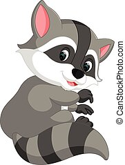 cute raccoon cartoon