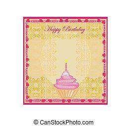 cute retro cupcakes card