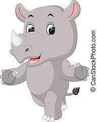 cute rhino cartoon