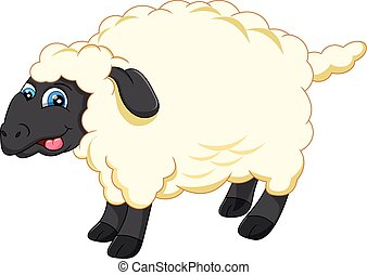 Line Drawing Of Sheep Face : Cute cartoon face of sheep line icon eps vectors search clip