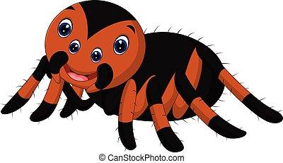 Cute tarantula cartoon - illustration of Cute tarantula ...