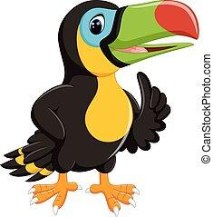 cute toucan cartoon