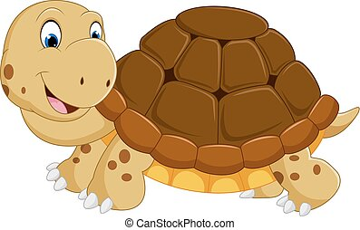 Cute turtle cartoon running