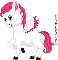 Cute unicorn cartoon