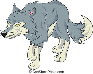 cute wolf cartoon