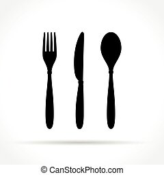 cutlery icons on white background