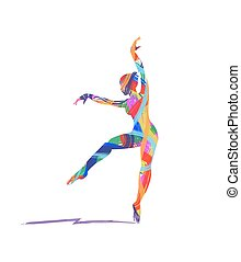 illustration of dancers silhouette