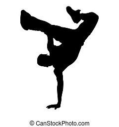dancing boy - illustration of dancing boy on white...