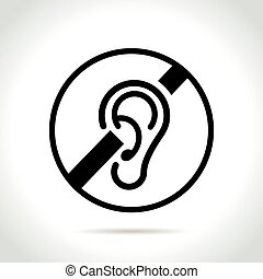 deaf icon on white background - Illustration of deaf icon on...