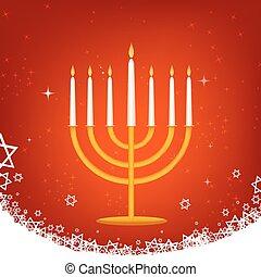 decorated hanukkah card