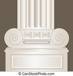 decorated pillar - Illustration of decorated pillar