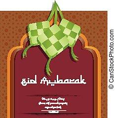 Decorative Eid mubarak background