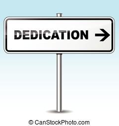 dedication sign - Illustration of dedication sign on sky...