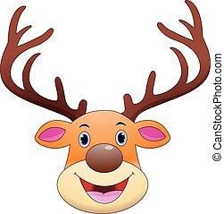 Deer head cartoon mascot