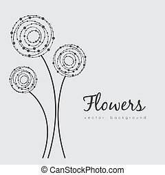 delicate flowers - illustration of delicate flowers made in...