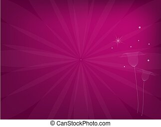Illustration of Delicate Flowers on Pink Background