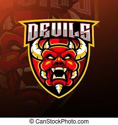 Devil head esport mascot logo design