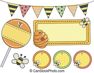 Bee Party Design Elements