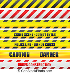 caution lines - illustration of different caution lines