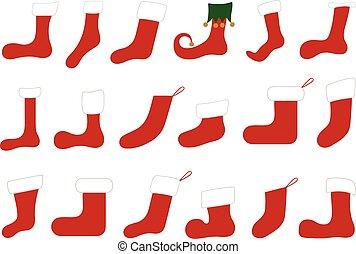 Illustration of different Christmas socks