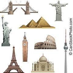 different famous landmarks