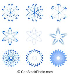 different shapes of atom